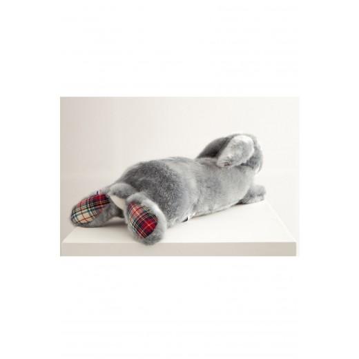 Pamplemousse PELUCHES MARTIN LE LAPIN bleu-gris 35 cm checkerd-03