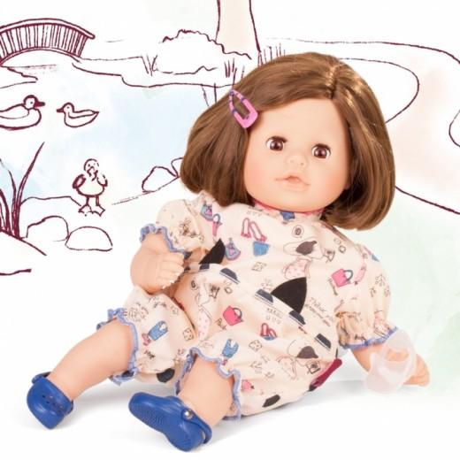 Götz babydukke Cozy Aquini 33 cm mørkt hår-33