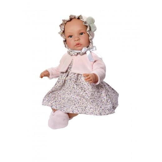 Asi dukke Leonora rosa kjole m/rosa cardigan 46 cm-31