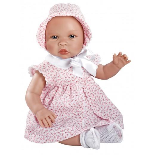 Asi dukke Leonora rosa kjole m/ blomster 46 cm-31