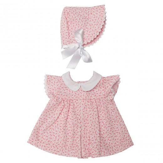 Asi dukketøj Leonora kjole blomstret m/kyse 46 cm-32