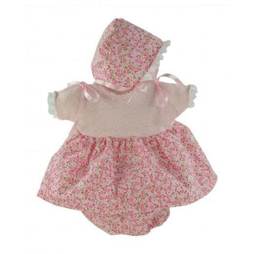 Asi dukketøj Koke kjole, bloomers og kyse 36 cm-31