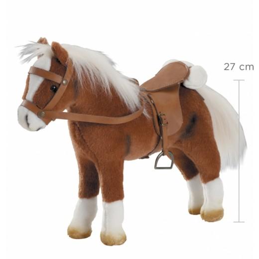 Götz Hest, sadel og hovedtøj brun 27 cm-33
