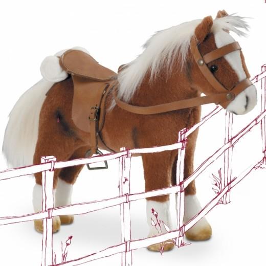 Götz Hest, sadel og hovedtøj brun 27 cm-03