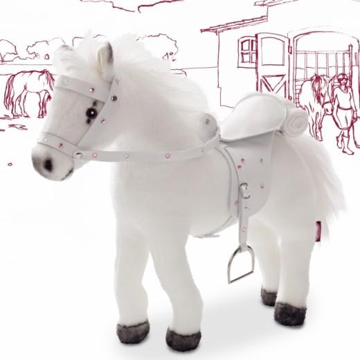 Götz Hest m/lyd, sadel og hovedtøj 27 cm-01