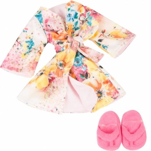 Götz Dukketøj Bathrobe, Kimono set 45-50 cm-34
