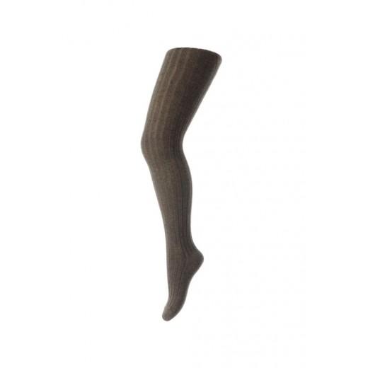 mp Strømpebukser bomuld rib brun-31