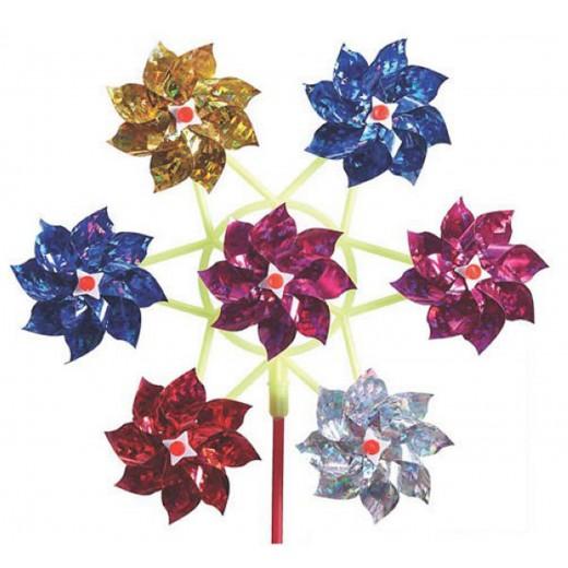 imagetoys Vindmølle med blomster metallic-31