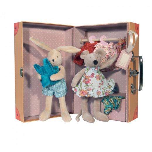 Moulin Roty Mus og Kanin i kuffert-33