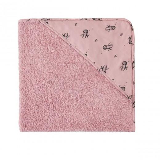 Rose in April Badelagen m/hætte Octopus dusty pink-34