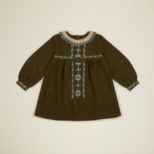 Apolina Kjole Mariette Dress olive-315