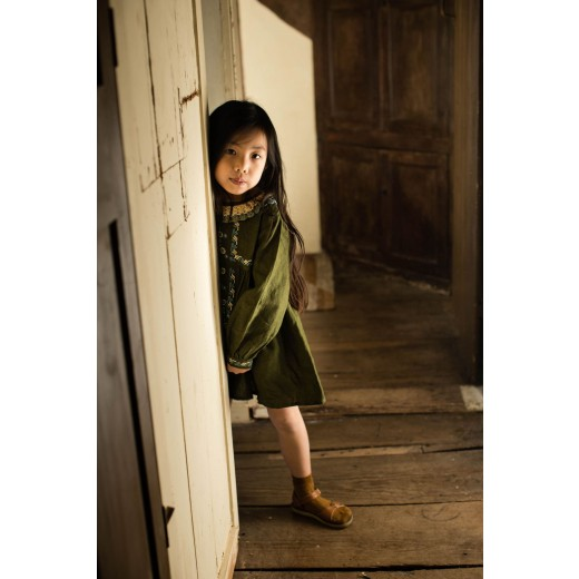 Apolina Kjole Mariette Dress olive-015