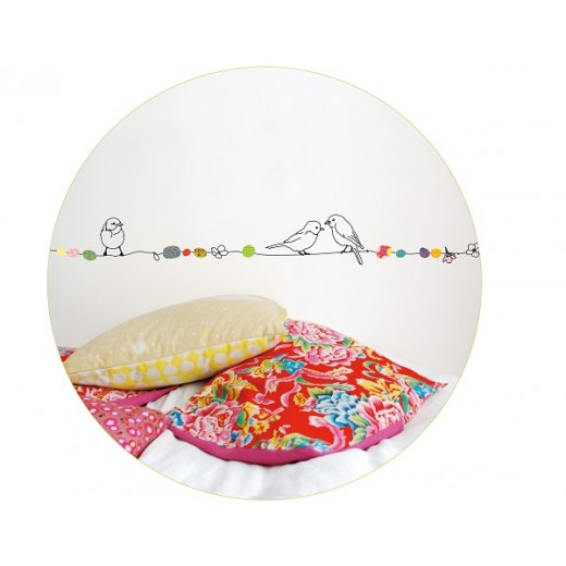 "MIMI´lou Wall border ""Pearls and Birds"" wallsticker-01"
