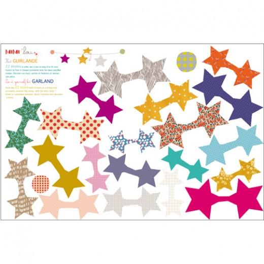 """MIMI´lou Garland kit """" Stars""""-31"""