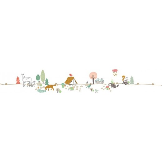 "MIMI´lou Wall border ""Woods"" Wallsticker-31"