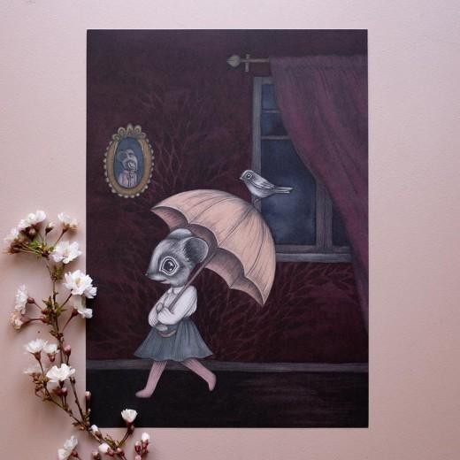 Kajsa Wallin Print The Umbrella Adventure A4-39