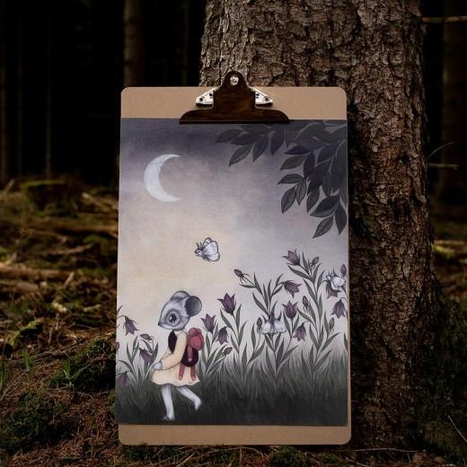 Kajsa Wallin Print Wild Child A4-35