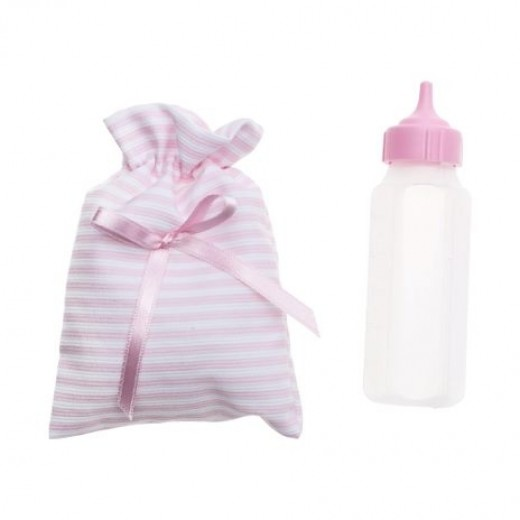 Asi Sutteflaske med stribet pose lyserød-32