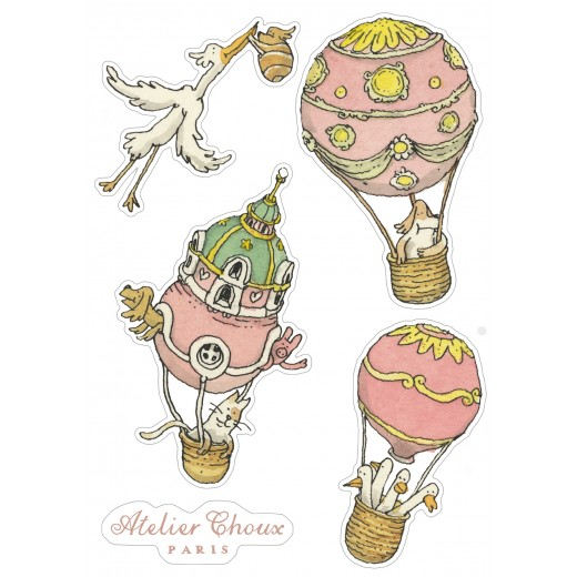 ATELIER CHOUX Wall Stickers Gift Set 40 pieces-02
