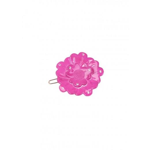 Bon Dep Hårspænde Small Flower clip Swarovski strong pink-34