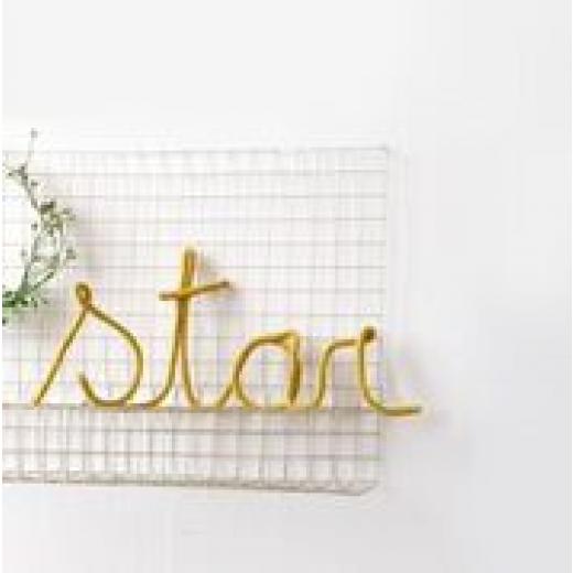 blossom Knitted word Star mustard-01