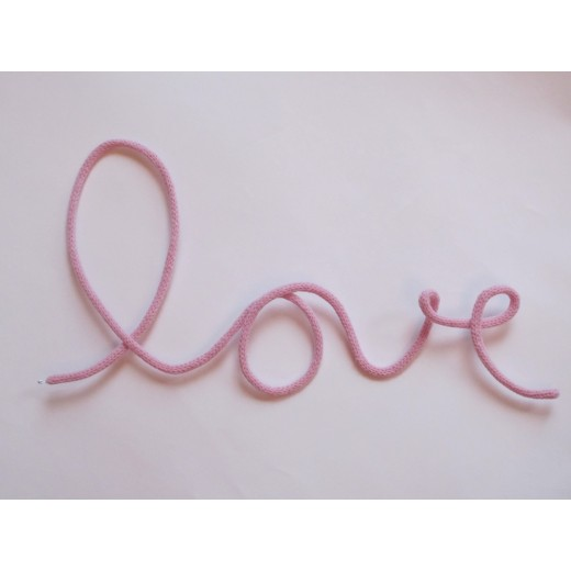 blossom Knitted word LOVE powder-31