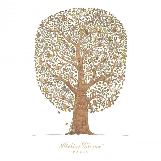 ATELIER CHOUX Carré FRIENDS and FAMILY TREE-34