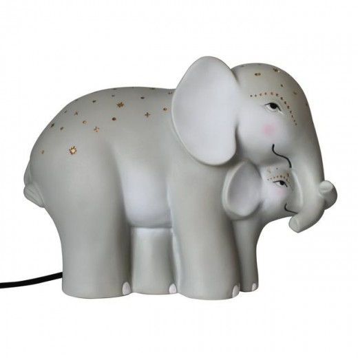 Disaster Designs Lampe Mother and Baby Elephant-016