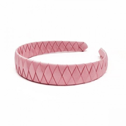 Verity Jones London Dusty Rose Braided alice hair band large-04