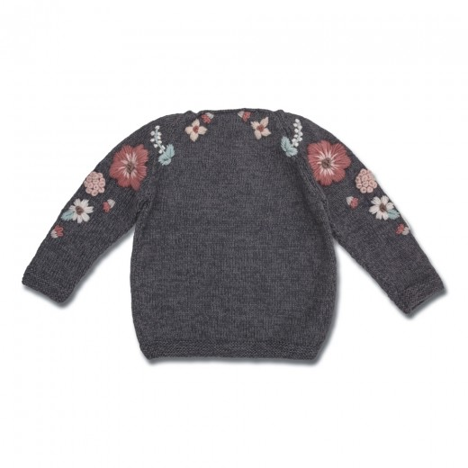 Shirley Bredal Sweater Flora dark melange grey-31