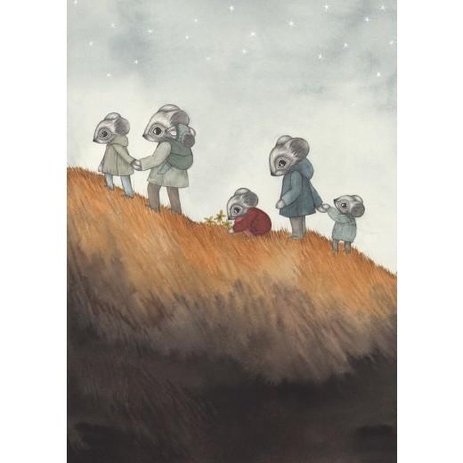Kajsa Wallin Print Earth Child A4-32