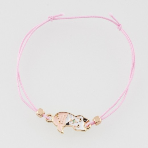 Ella and Monster Armbånd Pink Cat-310