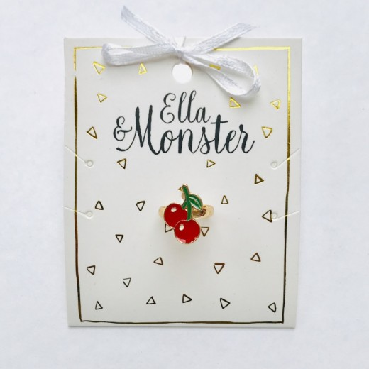 Ella and Monster Ring Cherry-316