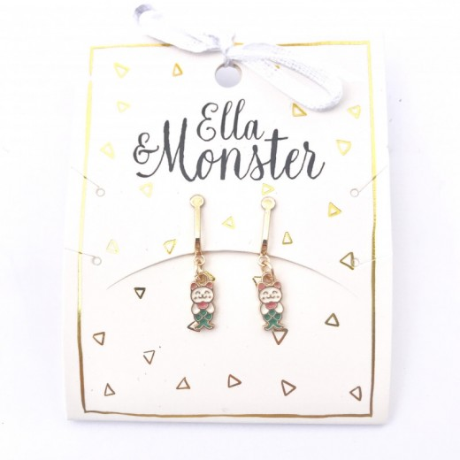 Ella and Monster Clips Øreringe Mermaid Cat-312