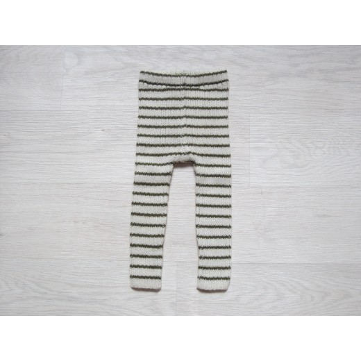 esencia leggings striped Ivory/olive-35