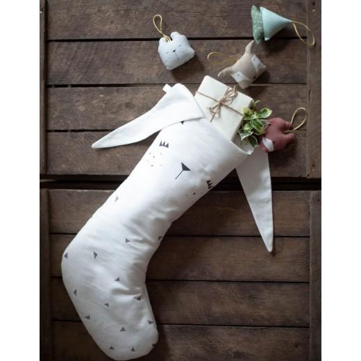 FABELAB Christmas Stocking Bunny white-32