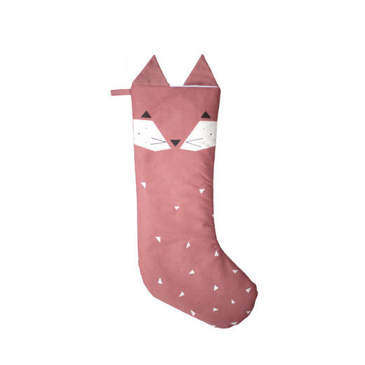 FABELAB Christmas Stocking Fox rosewood-02