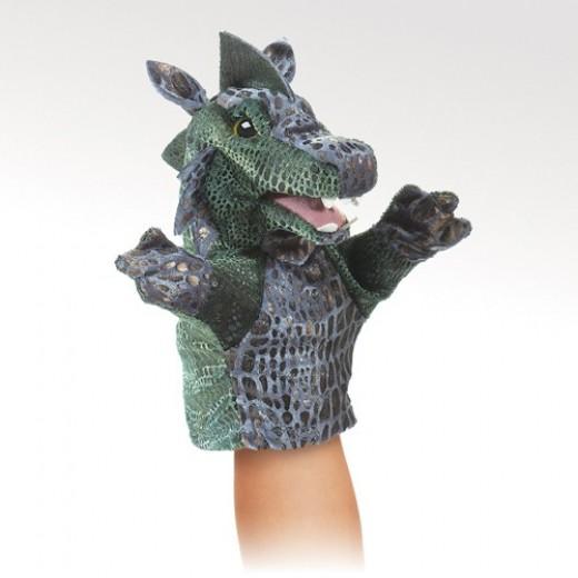 Folkmanis Den lille grønne Drage hånddukke-31