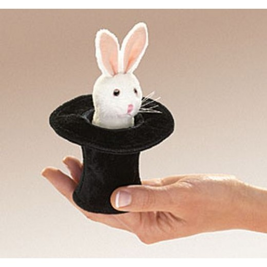 Folkmanis Mini Rabbit In Hat fingerdukke-32