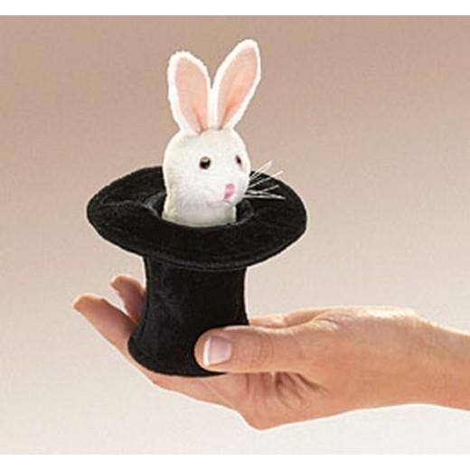 Folkmanis Mini Rabbit In Hat fingerdukke-32