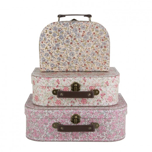 sass and belle Vintage Floral Suitcases 3 stk.-311