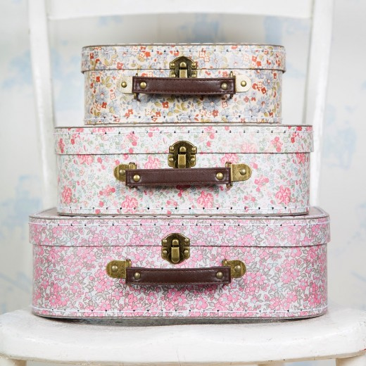 sass and belle Vintage Floral Suitcases 3 stk.-011