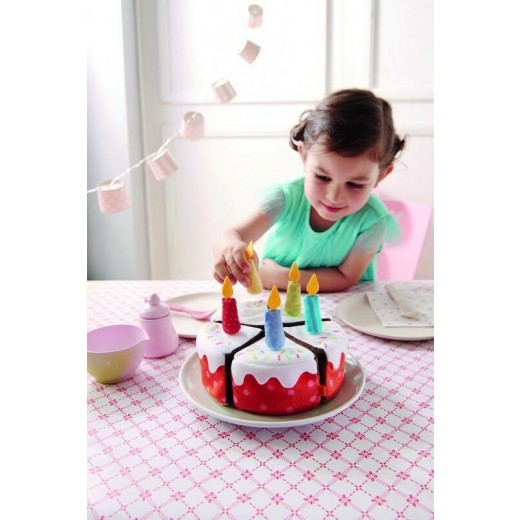 HABA Stofmad Fødseldagslagkage m/lys-32
