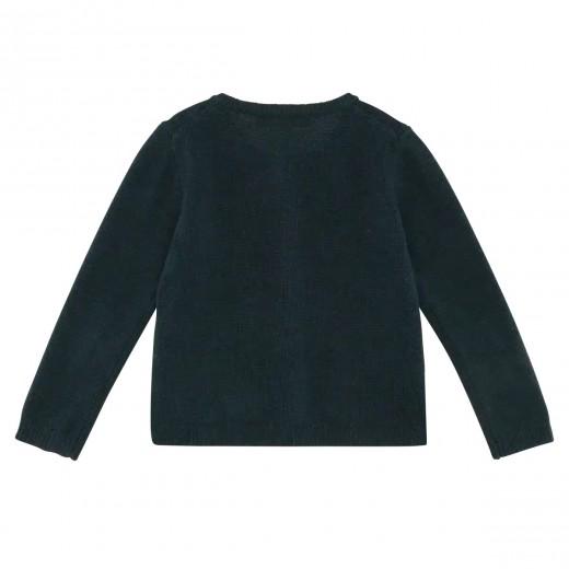 HOLMM COPENHAGEN Cardigan Molly quetzal cashmere/wool mix-04