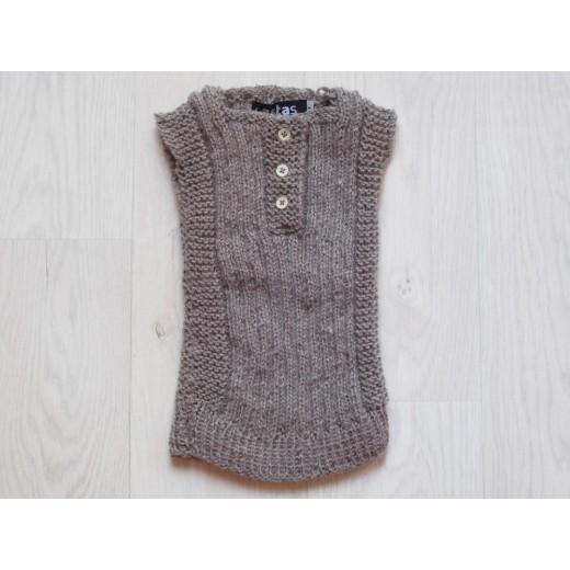 astas vest baby alpaca wool melange brown-31