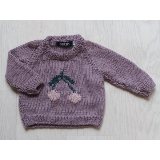 astas Cherry sweater double leaf light lavender-31