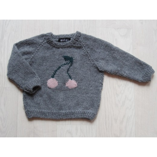 astas Cherry Sweater grey/pink cherry-32
