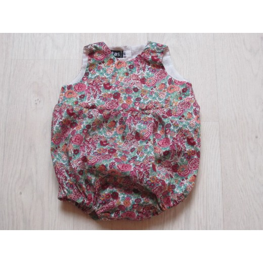 astas Playsuit liberty fabric red flowers-31