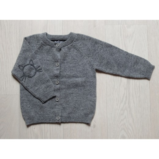 astas cashmere Cardigan with Cat grey-31