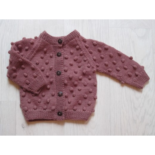 Shirley Bredal Bubble cardigan berry-31